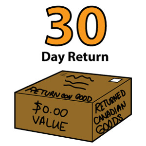 King Brand 30 day return policy shipping box