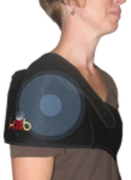 King Brand Shoulder ColdCure Wrap Treating the Bicep