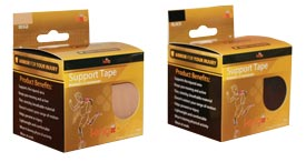 King Brand 3 inch Tape Beige and Black Packages