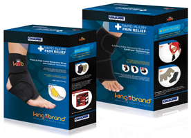 King Brand Ankle Ice Packs and Wraps