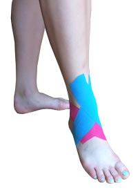 Ankle Ligament Injury Tape Application