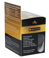King Brand® Packaged Pre-cut Black Tape Roll