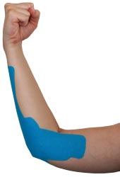 King Brand Blue Tape for Golfer's Elbow