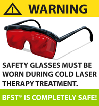 Cold laser safety glasses