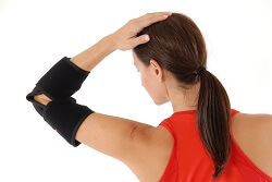 King Brand Elbow Wrap Back View Flexible Comfortable Wraps BFST Coldcure