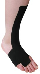 Black Extensor Tendonitis King Brand Taping