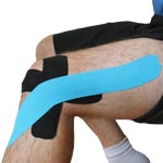 King Brand IT Band Knee Injury Tape Taping Image