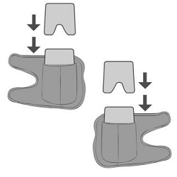 An Illustration Demonstrating how to Insert the ColdCure® Gels into the Wraps