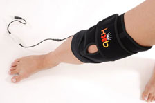 Top View of King Brand BFST Blood Flow Stimulation Knee Wrap