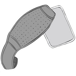 An Illustration of the King Brand ColdCure Leg Wrap With a Gel Pack