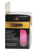 Kingbrand Packaged Pre-cut Pink Tape Roll