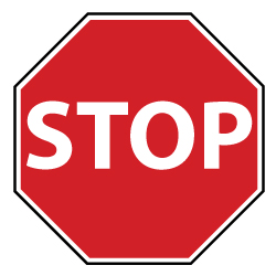 Pain Stop Sign Painful Stopping