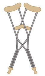 Plantar Fasciitis Crutches Treatment Diagram Illustration by King Brand
