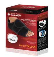 King Brand BFST (Blood Flow Stimulation Therapy) Foot Wrap Quickly Heals Foot Plantar and Heel Injuries