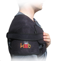 King Brand Shoulder Wrap Used with Accessory Strap for More Comfort and a Tighter and More Secure Fit Side View