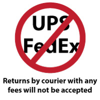 Return Courier Shipping Fees not accepted
